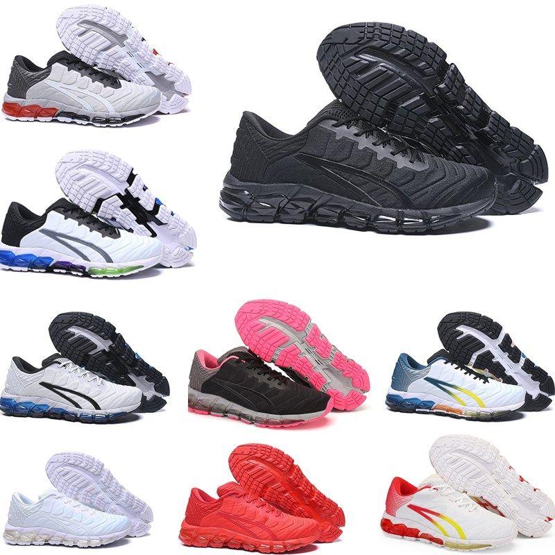 Gels-Quantuming 360 5 Mens Running Shoes Preto Clássico Folha Branca Rock Mulheres Trainers Velocidade Vermelho