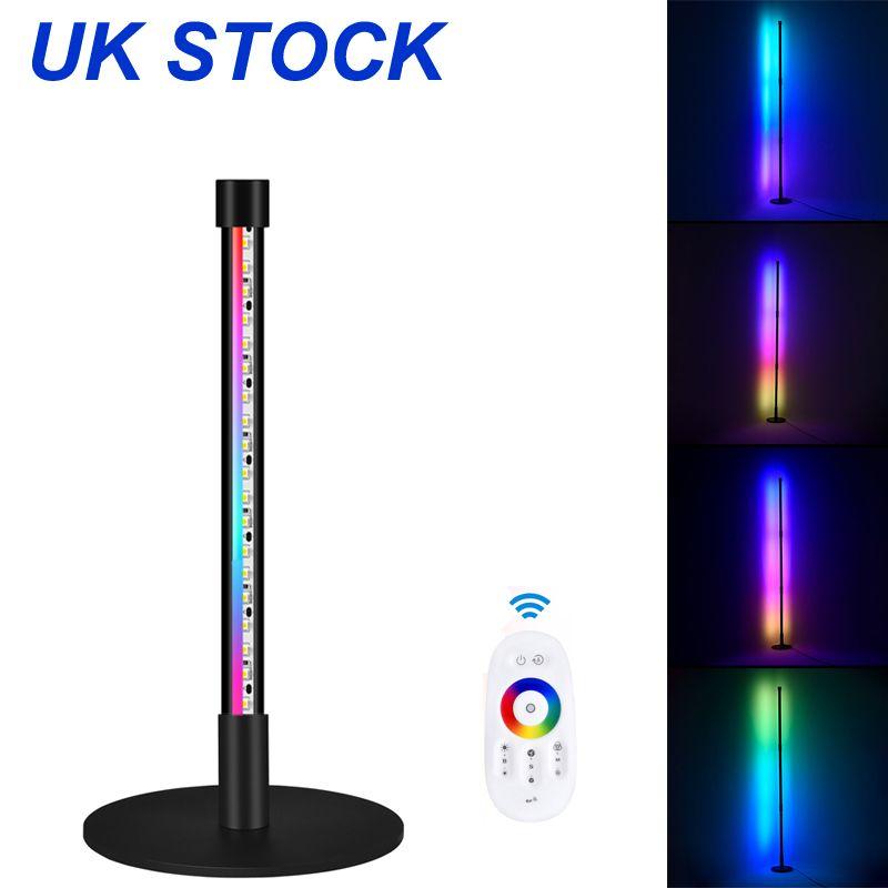 영국의 재고없는 바닥 램프 LED 코너 참신 조명 RGB 색상 변경 서있는 램프 디 밍이 가능한 원격 슈퍼 밝은 현대 원격 제어