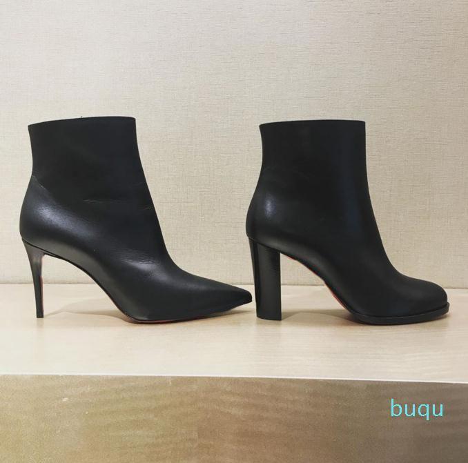 Tasarımcı-kadınlar lüks çizmeler bayanlar kırmızı alt taban ayak bileği çizmeler zincirler paltform topuklu kış moda çizme