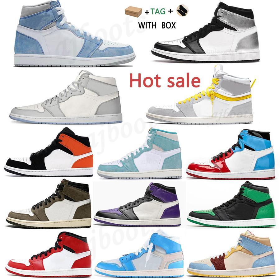 2021 high OG University Blue Basketball shoes Colores Vibras dye Pine Hyper Royal women sneakers Silver