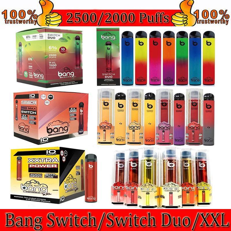Bang Pro MAX Switch XXL Duo Einweg-Elektronische Zigaretten 2 in 1 Gerät 8ML-Pods 1100mAh 2000 Puffs Vape Pe