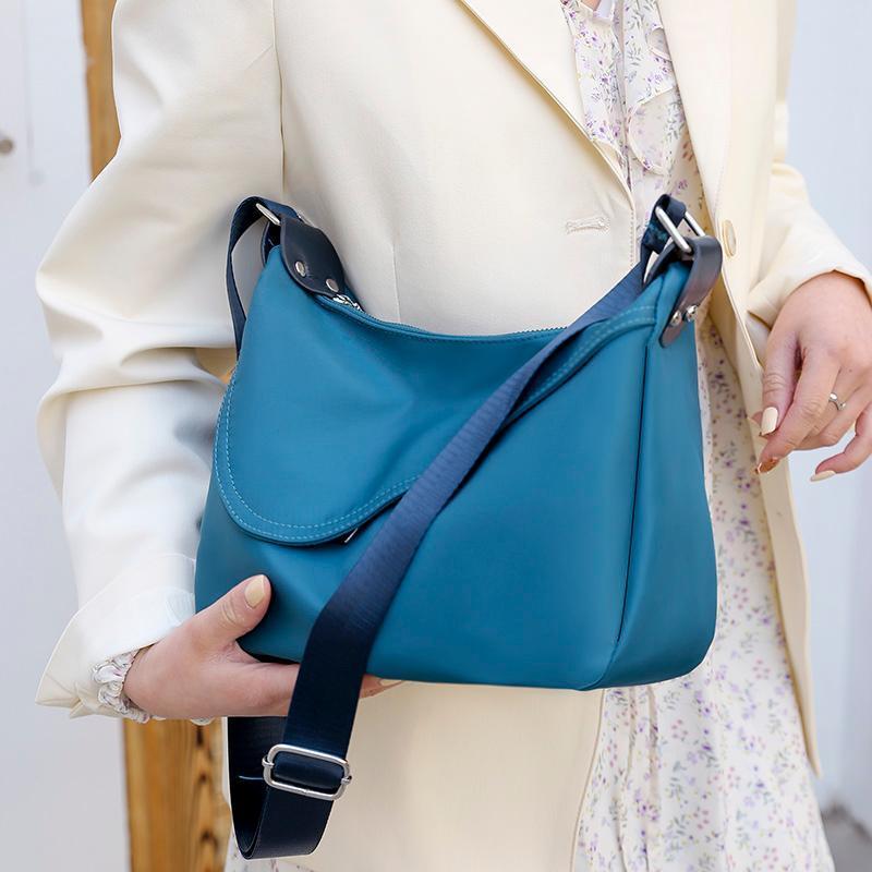 Sommer Oxford Tuch Messenger Bags für Frauen 2021 Mode einfarbig Crossbody Handtasche Weibliche Nylon Umhängetasche Kreuzkörper