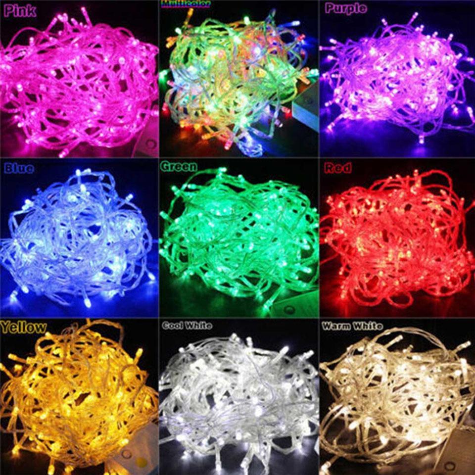 10M 100LEDS LED سلسلة ضوء AC220V AC110V 9 ألوان فيسون مصابيح للماء جارلاند حزب عطلة عيد الميلاد الديكور