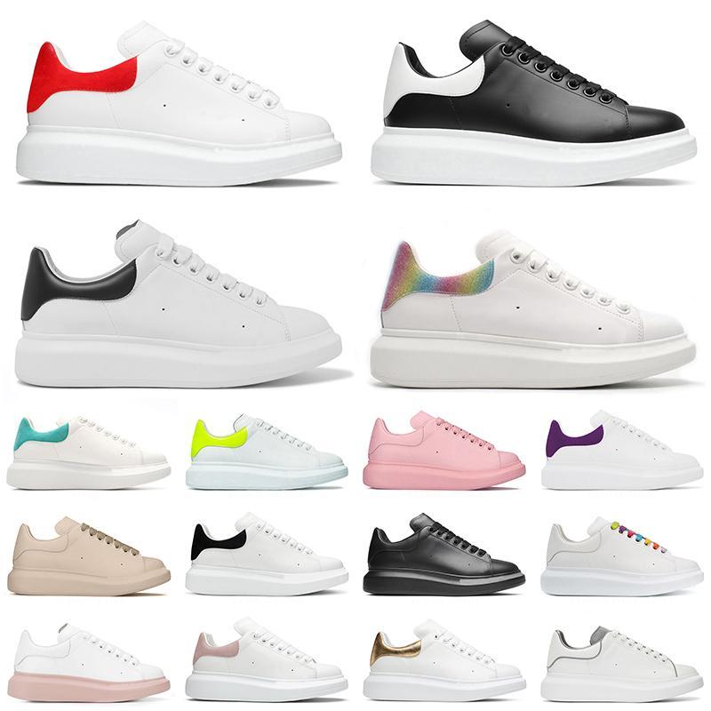 2021 Plateforme Casual Chaussures Hommes Femmes Plat Designer Espadrilles Surdimensionné En Cuir Véritable Espadrilles Baskets Sport 36-44