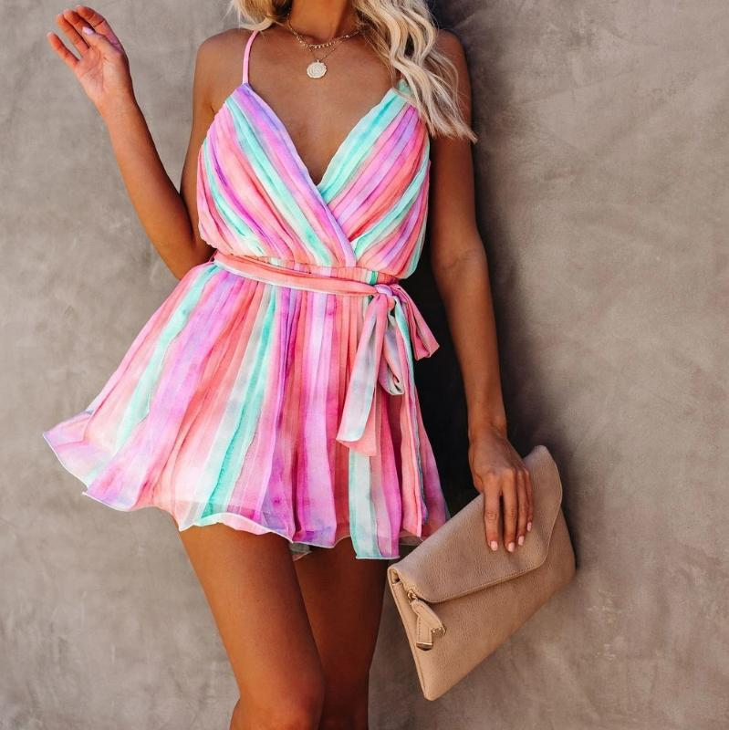 Up Sarongs Swimwear Cover-ups Sexy Sleeveless Loose Summer Dress Women Plus Size Beachwear Swimsuit Cover Multicolor Bikini
