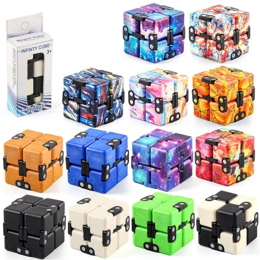 Infinity Magic Cube 크리 에이 티브 갤럭시 FitGet 장난감 Antistress Office 플립 큐빅 퍼즐 미니 블록 감압 장난감 DHL
