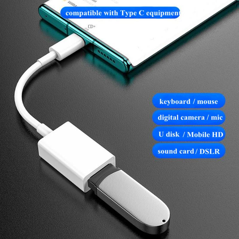 Data Cable Type-C 3.0 USB C to Adapter OTG connect with Keyboard Mouse Camera U Disk Sound Card