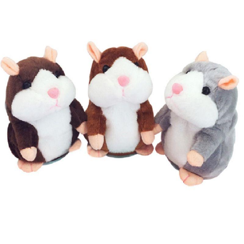 Talking Hamster Fare Pet Peluş Oyuncak Sevimli Ses Kayıt Hamster Konuşur Kayıt Fare Dolması Peluş Hayvan Çocuk Oyuncak 200 adet 755 x2