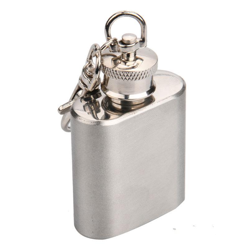 Garrafa de vinho de aço inoxidável chaveiros 1oz mini frasco de quadril chaveiro anéis moda acessórios para homens mulheres jóias