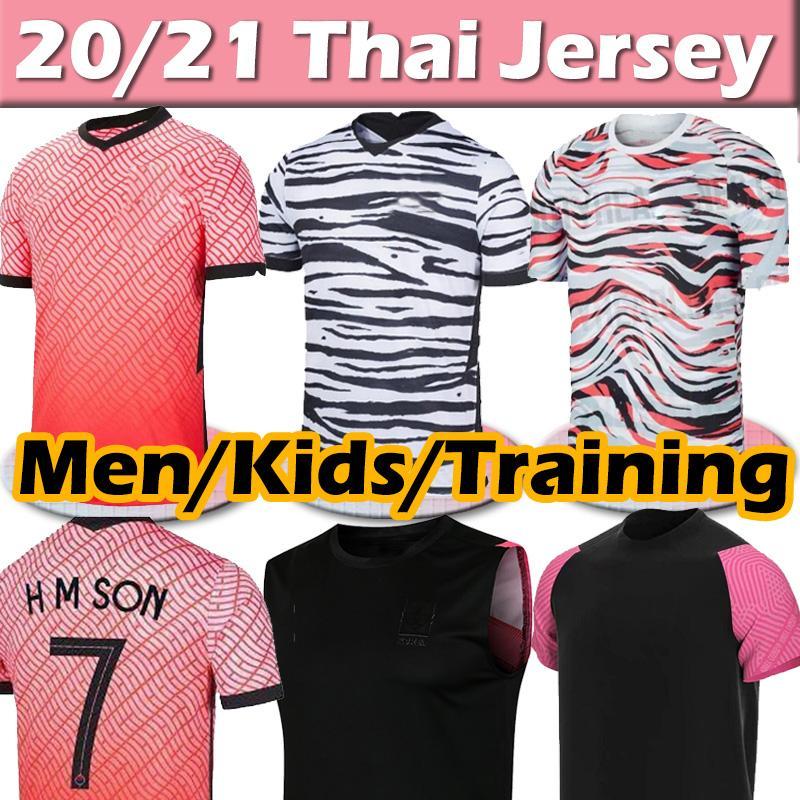 2020 Sul de Futebol Jerseys Korea Son Sul 20 21 Coréia Home Away Black Hyung Kim Lee Kim Ho Son Jersey Personalizado Homens Crianças Treinando Camisas de Futebol