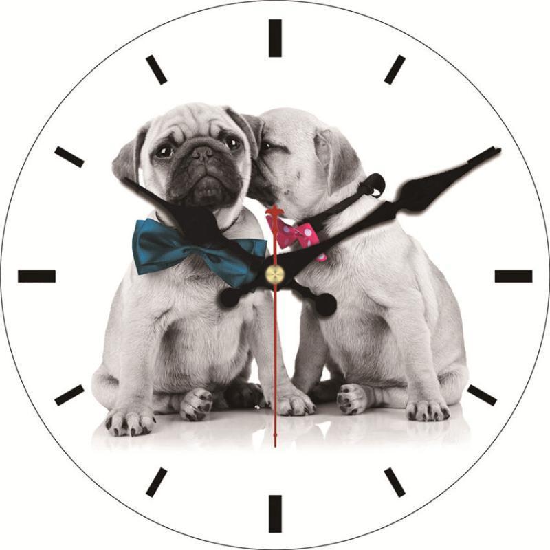 Horloges murales Shabby chic, chiot mignon horloges, horloge vintage, montres murales décor à la maison, cadeau d'horloge non coque