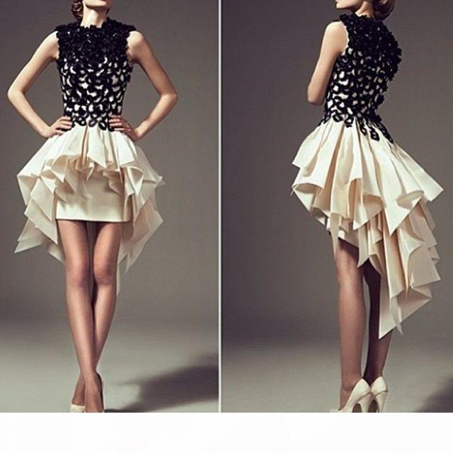 Sleeveless Black Cocktail Dresses With Short Sleeve Prom A-line Cocktail Dress 2021 Homecoming Queen Dress Gowns