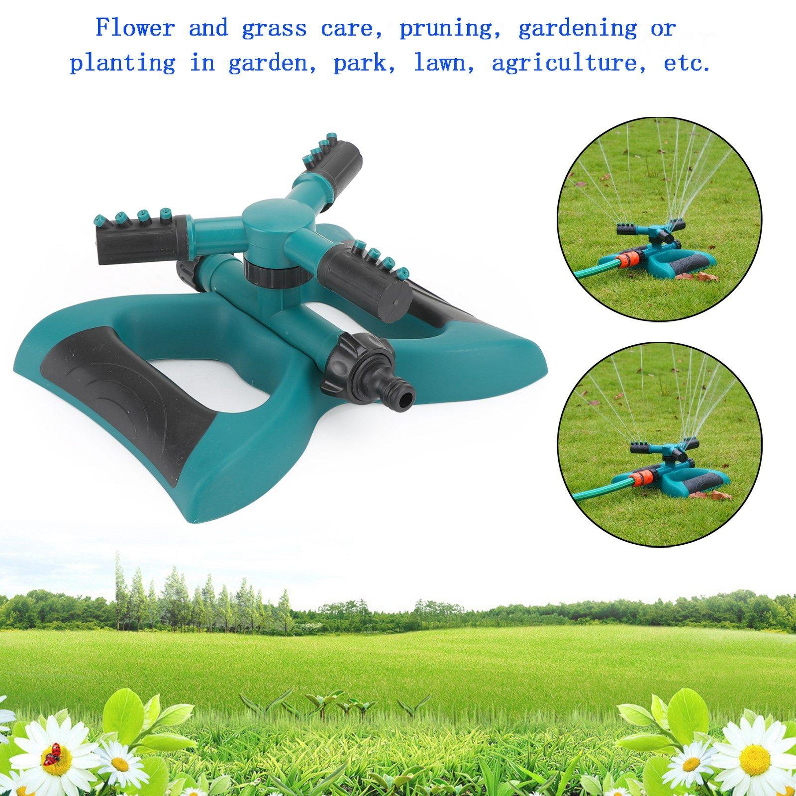 Garden Supplies Sprinkler Spray Rotating Impulse Lawn Grass Watering Hose System 360 Degree