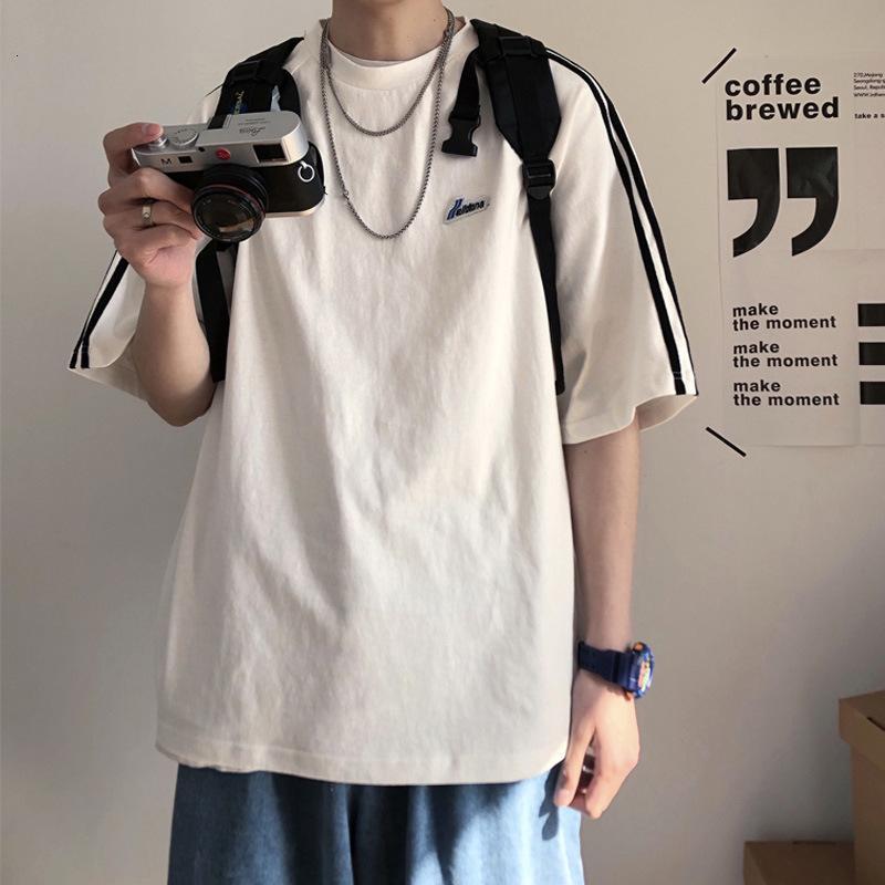 Sommer Kurze Männer Trend Lose Halbhülse T-Shirt Trendy Brand Paar