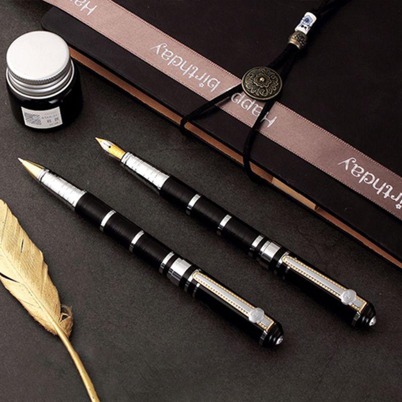 Luxo Metal Ballpoint Fountain Pen Negócios Estudante Escrita Ferramenta Caligrafia Escola Escola Suprimentos Penas