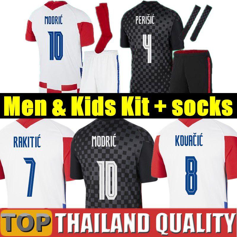 2020 Euro Croatia Hırvatistan Futbol formaları PERİSİK 18 19 20 MODRİK MANDZUKİK REBİK Hırvatistan Futbol forması Rakitic erkekler çocuklar kiti üniformalar