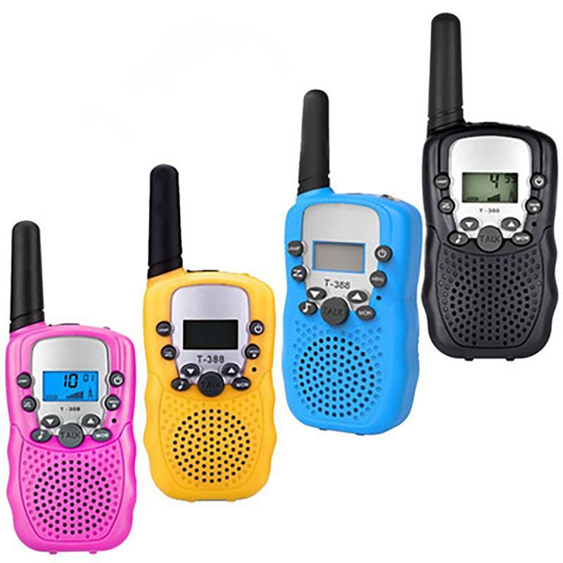 T388 Детские Радио Игрушка Walkie Talkies Детские Радио УХФ Двухсторонний T-388 Talkie Пара для мальчиков