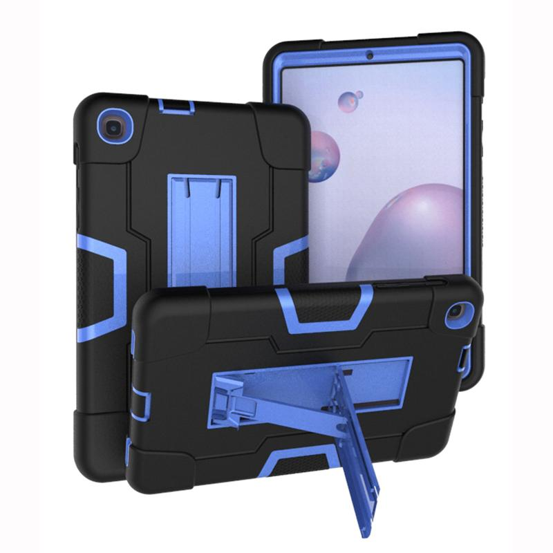 3 in 1 Silicon PC Full Body Case Shockproof Hybrid Robot Heavy Duty Kids Safe Rugged Cover For Samsung Tab A T590 T830 T387 T510 T720 P200 T290 P610 T307 A7 T500 Lite T220