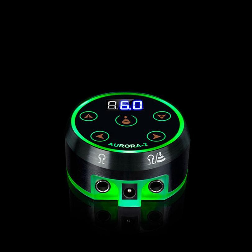 Professional Mini LCD Tattoo Alimentatore con adattatore di alimentazione senza pedale tatuaggio macchina alimentazione per macchine per tatuaggi rotanti bobina