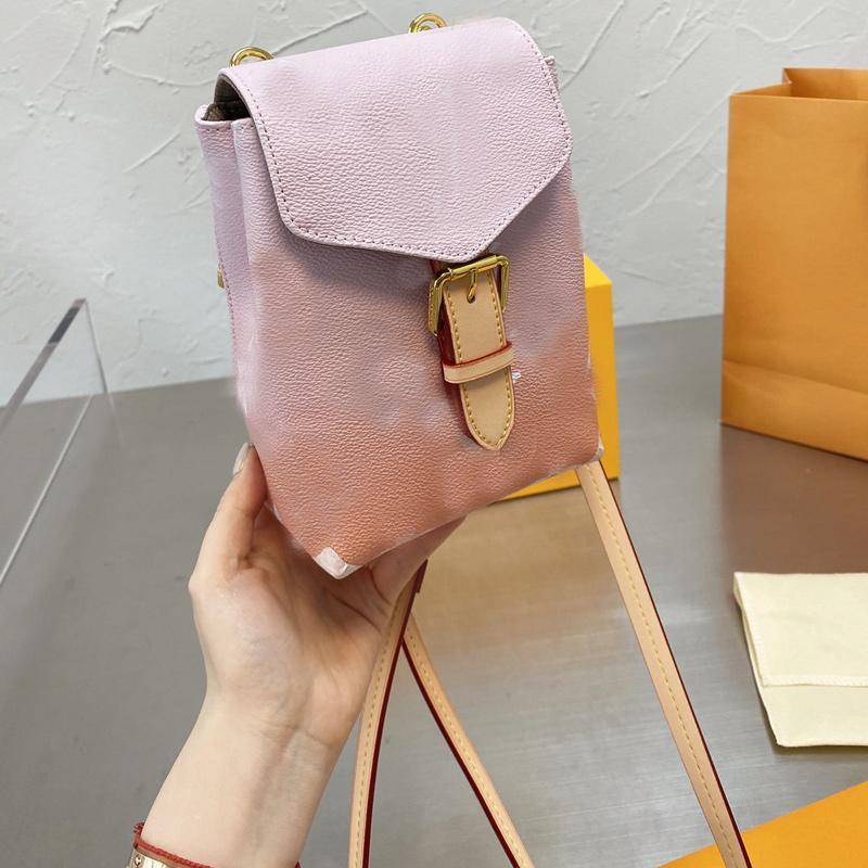 Mini Backpack Shoulder Bags Women Handbags Purse Fashion Letter Gradient Color Golden Hasp Backpacks Hand Cluth Bag Wallets Satchels