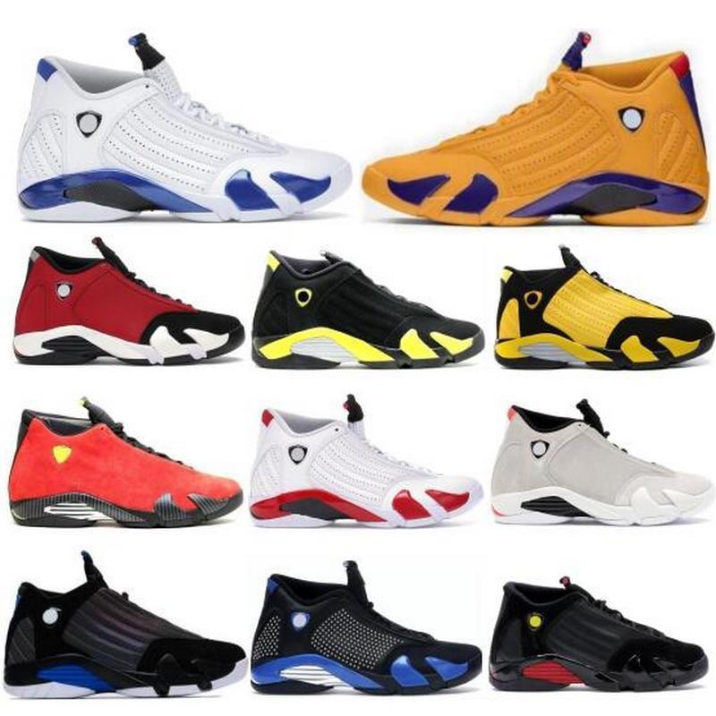 Jumpman Shoes de baloncesto 14 14s Hombres Mujeres Gimnasio Red Blanco Hyper Royal Desierto Arena Thunder DMP Tiro Último Tiro Amarillo Cesta de Toe Femme Sneakers