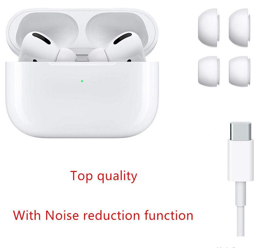 에어 포드 프로 겐 3 이어폰 ANC 소음 취소 투명 금속 힌지 무선 충전 블루투스 헤드폰 AP3 AP2 Earbuds 2 세대 헤드셋