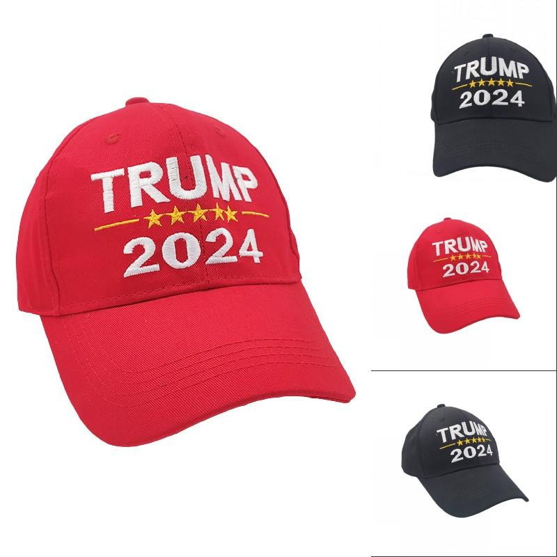 2024 Trump Hat Lettere elezione presidenziale Lettere da baseball stampate per le donne Sport Regolabile Trump USA Hip Hop Peak Cap Head Wear 1130 V2