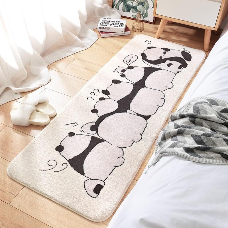 Carpets Cartoon Creative Bedroom Long Rug Super-density Fluffy Bedside Carpet With Absorbent Non-slip Bathroom Doormat Area Rugs
