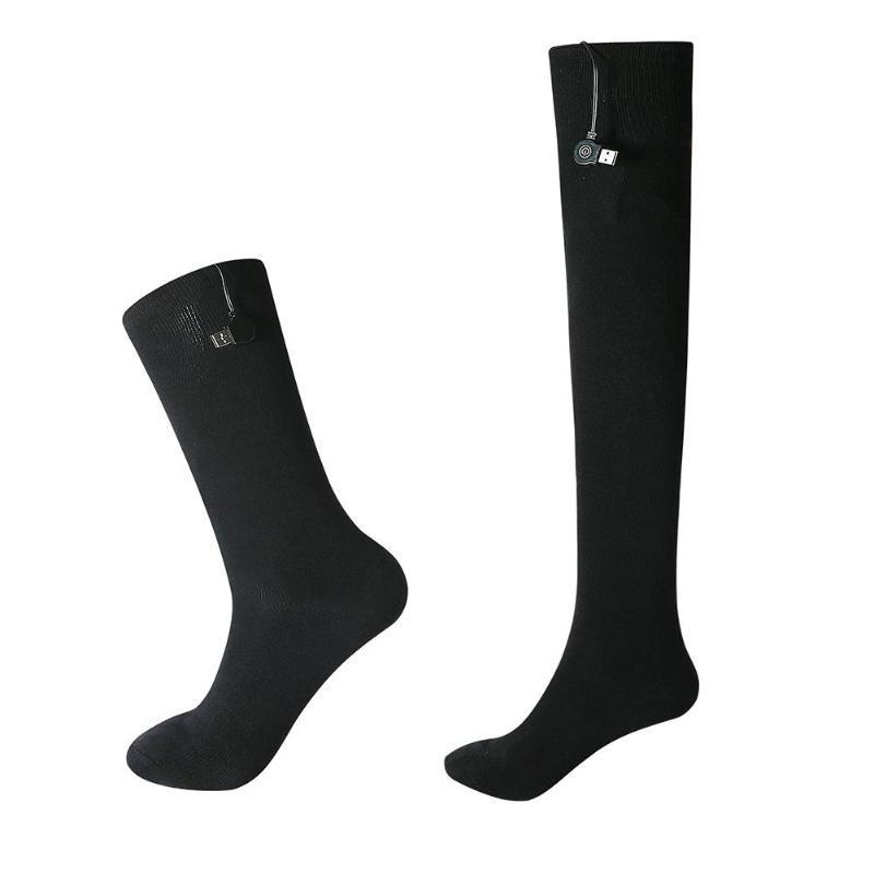 Sports Socks Men Women USB Heated Mobile Power Secure Warm-keeping Heating In Winter For Outdoor
