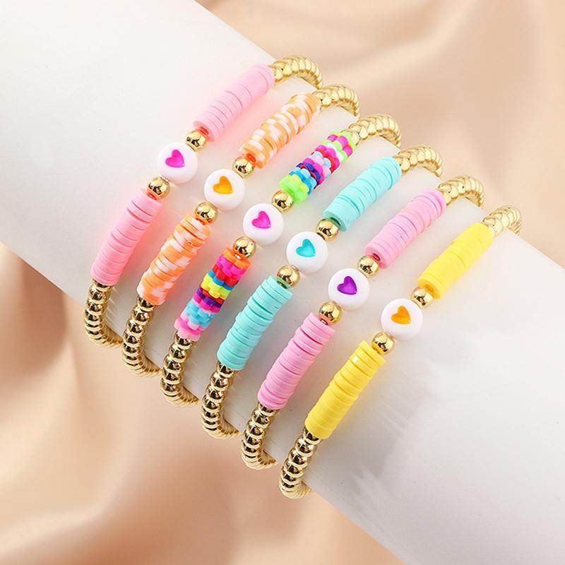 Бисероплетенные, пряники богемные многоцветные сердца бисерные браслеты наборы для женщин красочные мягкие гончарные браслеты BOHO Shell украшения девушки подарок