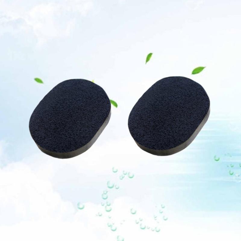 Sünger, Aplikatörler Pamuk 2 ADET Siyah Yüz Temizleme Sünger Cilt Temizleme Peeling için Aktif Bambu Kömürlü