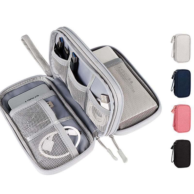 السفر الملحقات الرقمية حقيبة قوة البنك شاحن USB كابل سماعة التخزين الحقيبة كبيرة صدمات الإلكترونية أكياس التجميل حقائب التجميل