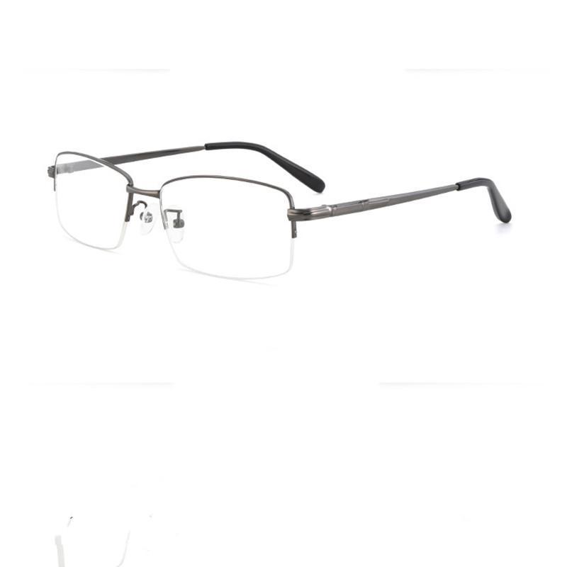 Moda Güneş Gözlüğü Çerçeveleri Süper Zor Metal Yarım Jant Gözlük Çerçevesi erkek Basit Gözlük kadınların Taze Edebi Miyopi Gözlük 3060