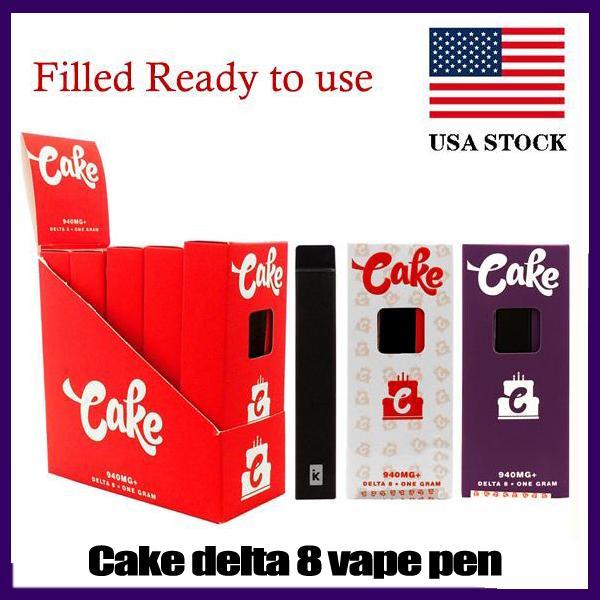 Tercihli Kek Delta 8 D8 Tek Kullanımlık E Sigara Cihazı Tam Gram (1 mi) Kapasiteli Pod Şarjlı Vape Kalem 280mAh Pil Kalın Yağ