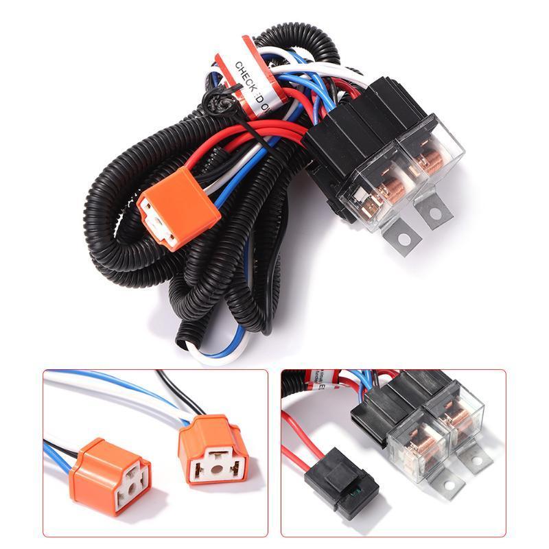 Outro sistema de iluminação 12V carro 2-farol h4 luz lâmpada lâmpada lâmpada bulbo plugues de fiação de retransmissão Kit de arnês de arnês Accessori de substituição de automóveis