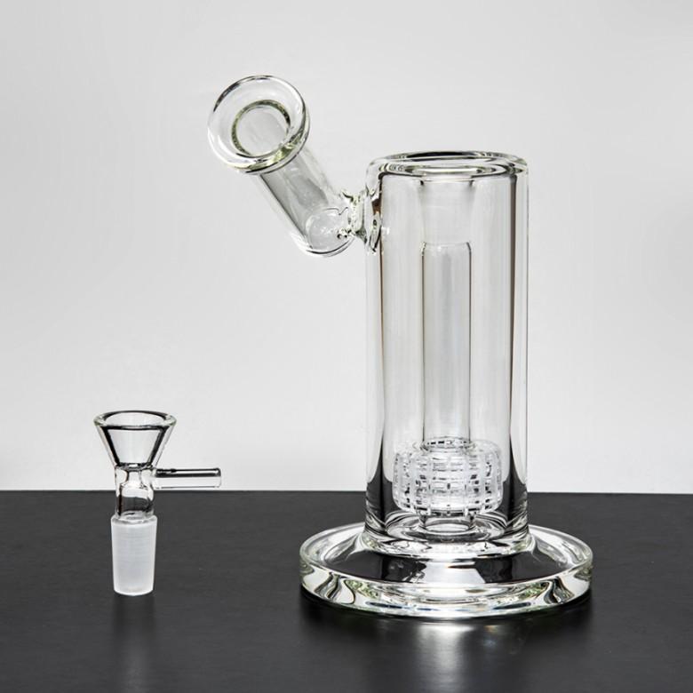 22.5 cm de vidro de vidro de vidro matriz sidecar birdcage perc equipamento petroleiro espessa fumar água tubulação de água conjunto14mm fy2301
