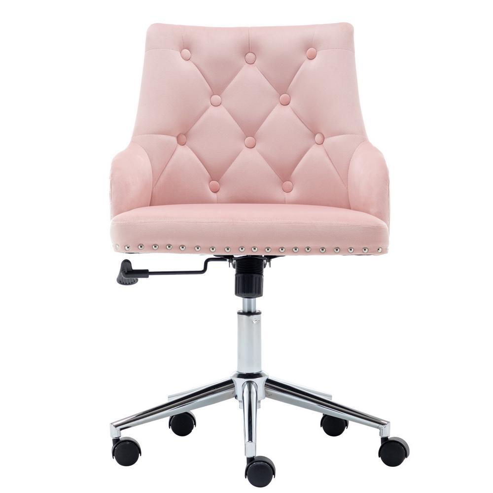 WACO High Back Office Bearvet Christment Мебель Дом, Поворотный Современный дизайн для Задача Компьютерная Приемная Спальня Исследование, с оружием (розовый)