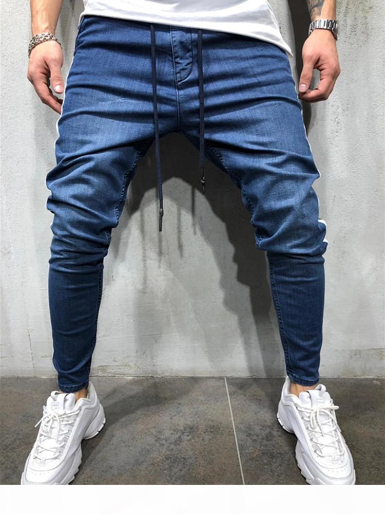 3 Stili Uomini Stretchy Skinny Skinny Biker Slim fit denim classico jeans casual graffiato di alta qualità Jean S-3XL