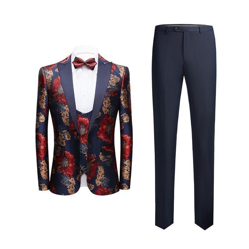 Shenrun Erkekler Smokin Slim Fit Moda Sonbahar Kış Suit 3 Parça Ziyafet İş Parti Balo Sahne Kostüm Gece Kulübü Şarkıcı Ev sahibi