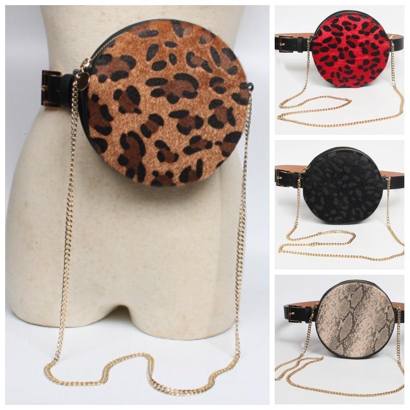 Leopard Taille Tasche Gürtel Pack Runde Kette Schulter Crossbody Bag Snake Druck Brusttasche Bum Geldbörse Für Frauen 20 8Srh1