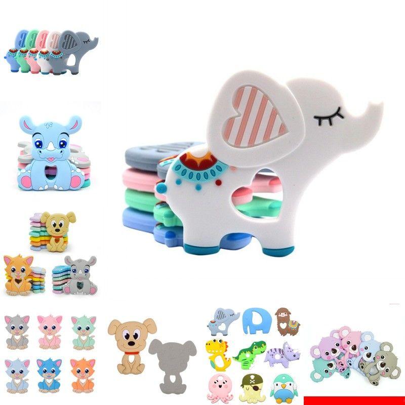 LOFCA 1PC Baby Dentition Toys Dessin animé Liquide Crème glacée Silicone Silicone Pendentif Collier Raccoon Accessoires Accessoires pour bébé Chew Jouets DIY 968 Y2