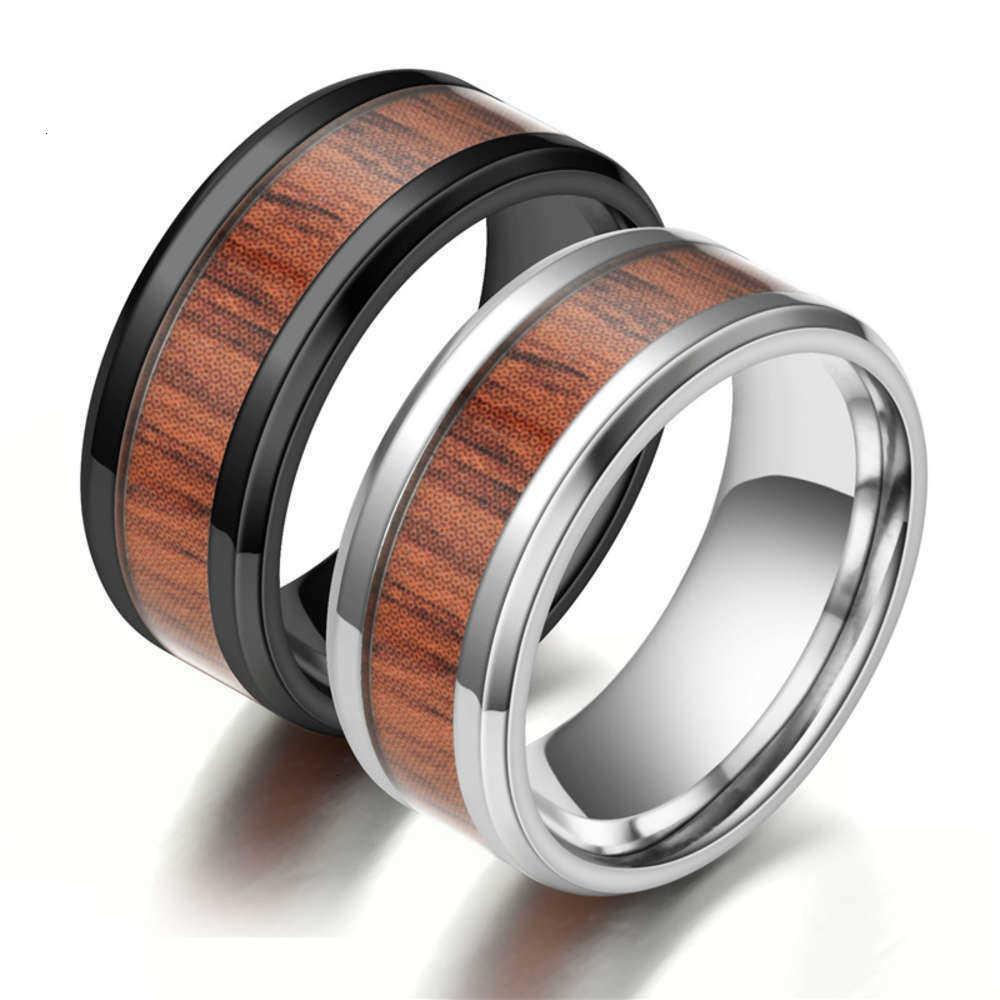 Нержавеющее титановое стальное дерево кольцо, персонализированное мужское творческое кольцо