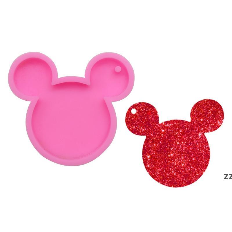 Moule en silicone Bijoux Faire pression Mouse Bow Silicone Moule Gâteau Décorateur Outils de décoration Résine Gumpaste Fondant Fondant Artisanat Moules HWB7664