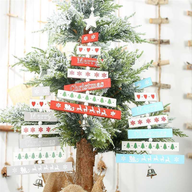 2020 Joyeux Noël Décorations de la maison Christmas En Pendentif Tree Pendentif Widget Pendentif pour le nouvel an 2020