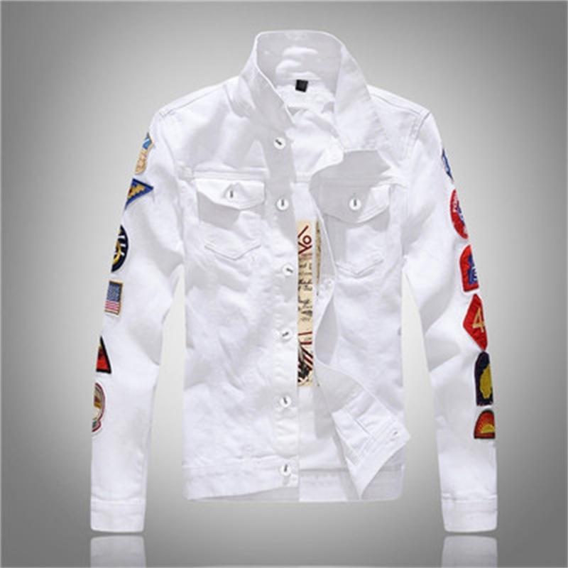 Куртки Классическая Одиночная Джинсовая Джинсовая Деньс Повседневная Хлопковая одежда