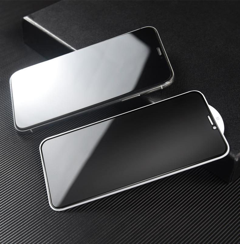 Anti-Spy Sekretess Fullständigt Temperat glasskydd Silke Tryckt för Samsung Galaxy A02 A12 A22 4G 5G S21 FE A71S F52 100PCS / LOT SIMPLE OPP