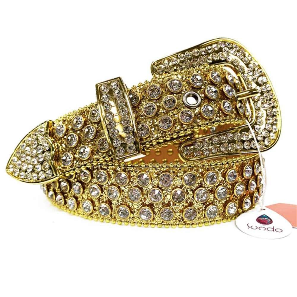 Famoud 브랜드 다이아몬드 박힌 벨트 서양 카우보이 청바지 스파클 남성 디자이너 모조 다이아몬드 벨트 여성 남성