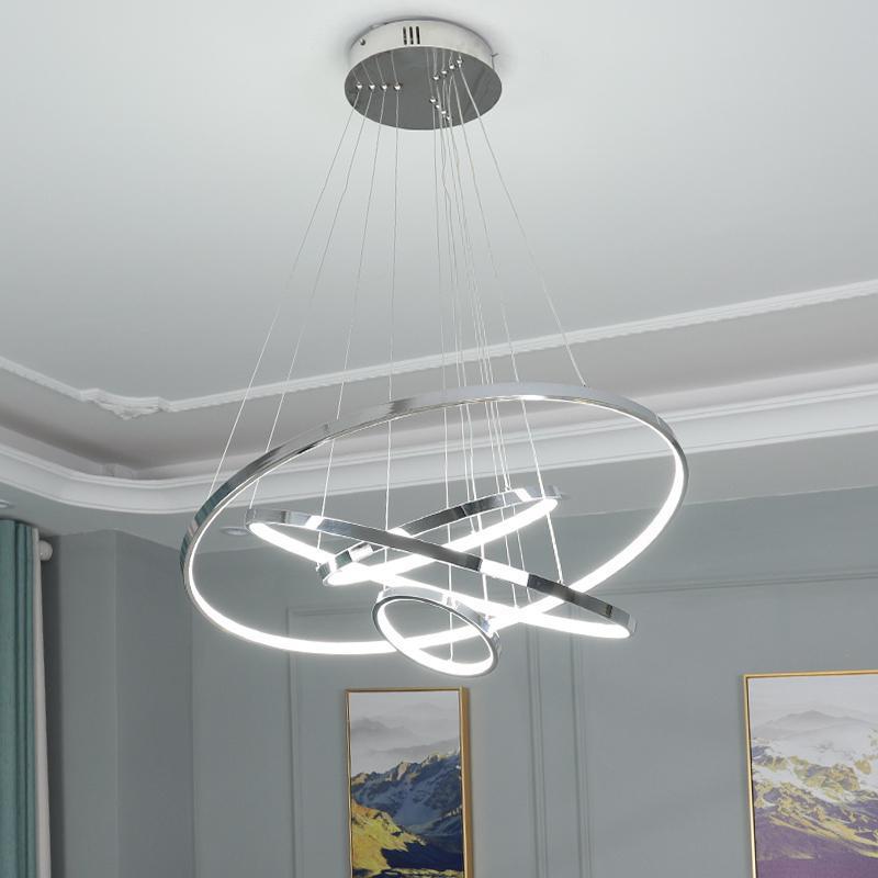 샹들리에 가벼운 홈 원형 로비 크리 에이 티브 엘 바에 대 한 조명 매달려 간단한 라운드 현대 LED 램프 샹들리에