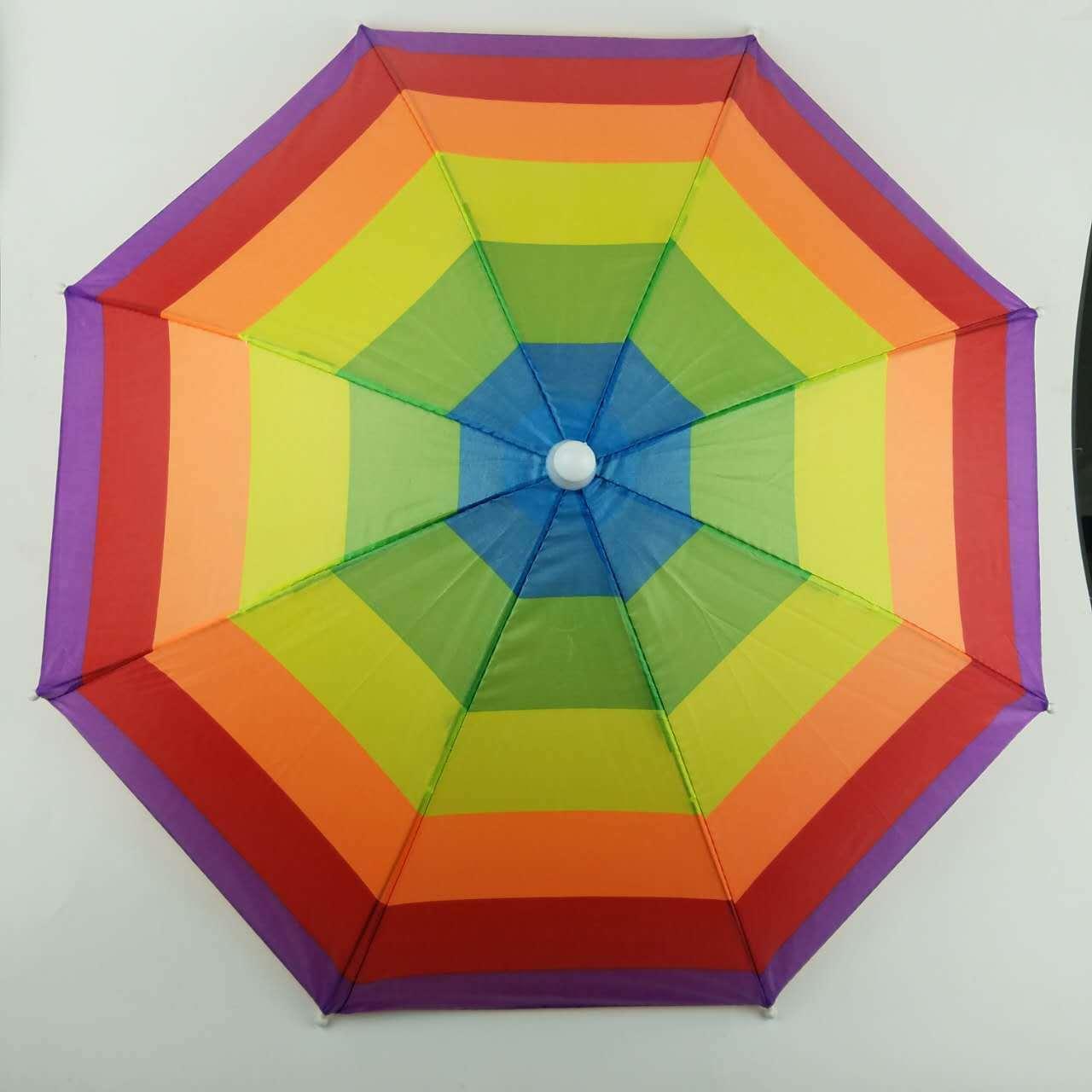 Открытый рыболовный солнцезащитный отдых зонтик шляпа от солнца носить детские игрушки, путешествующие арбуз радуга зонтик шляпа