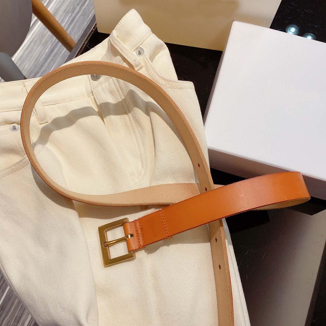 2021 2 سنتيمتر و 3 سنتيمتر أزياء المرأة الصفراء مصممي الرجال حزام الكلاسيكية مع مربع، إنتاج الجلود الحقيقي، مصدر المصنع 011